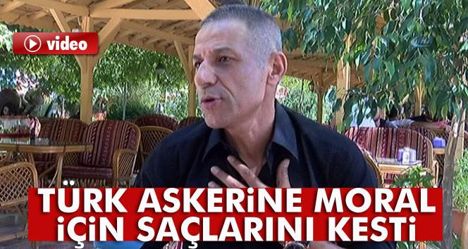 Sanatçı Yıldızdoğan Türk askerine moral için saçlarını