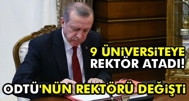 Cumhurbaşkanı Erdoğan 9 üniversiteye rektör
