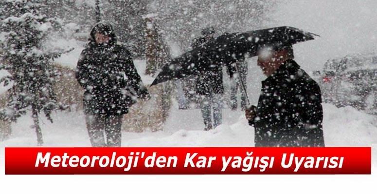 Meteorolojiden Kar Yağışı