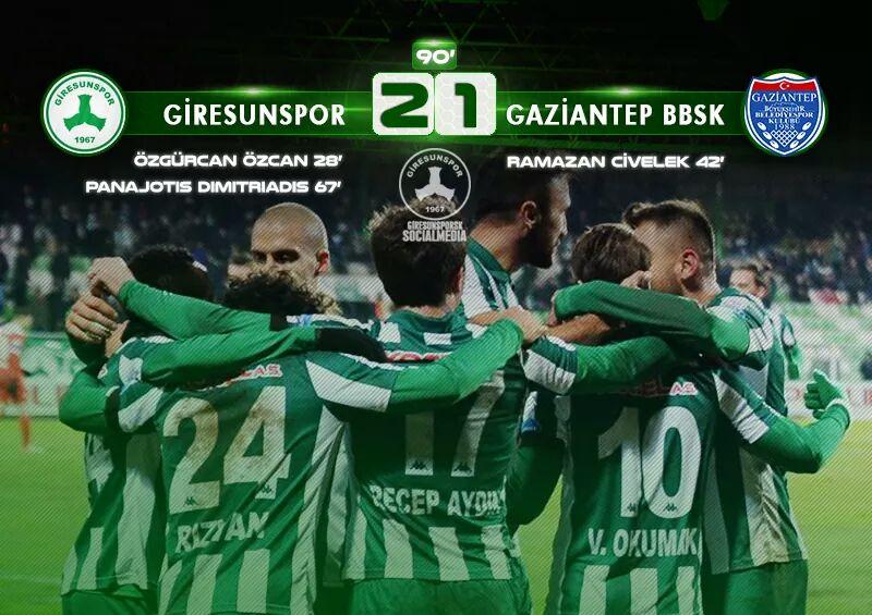 Giresunspor 2-1 Büyükşehir