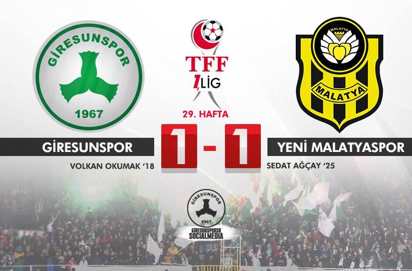 Giresunspor 1-1 Yeni