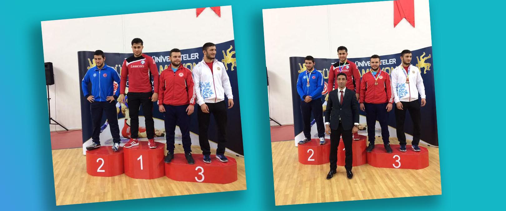 Güreşte Türkiye Şampiyonu