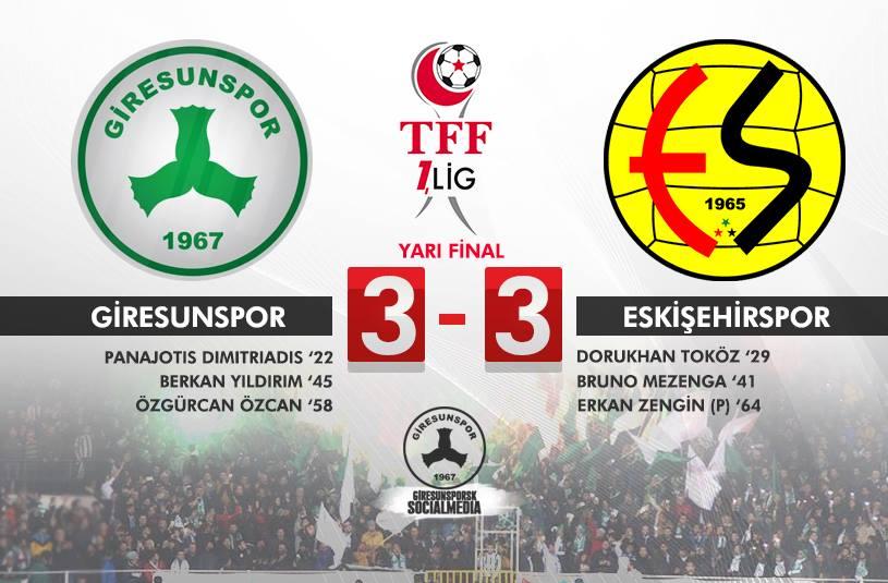 Giresunspor 3-3