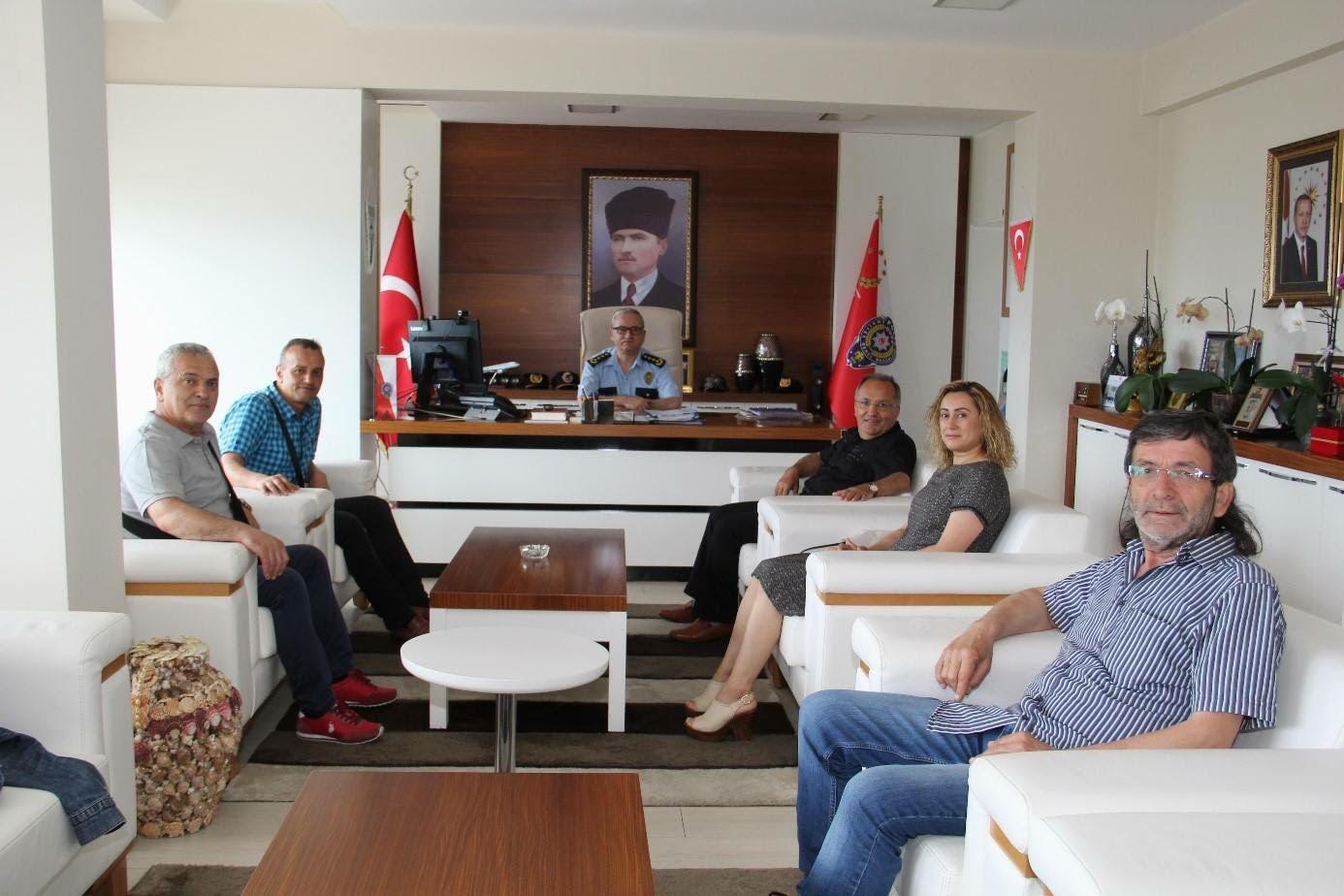Gazeteciler Cemiyet Başkanı Ve Üyelerinden Ziyaret