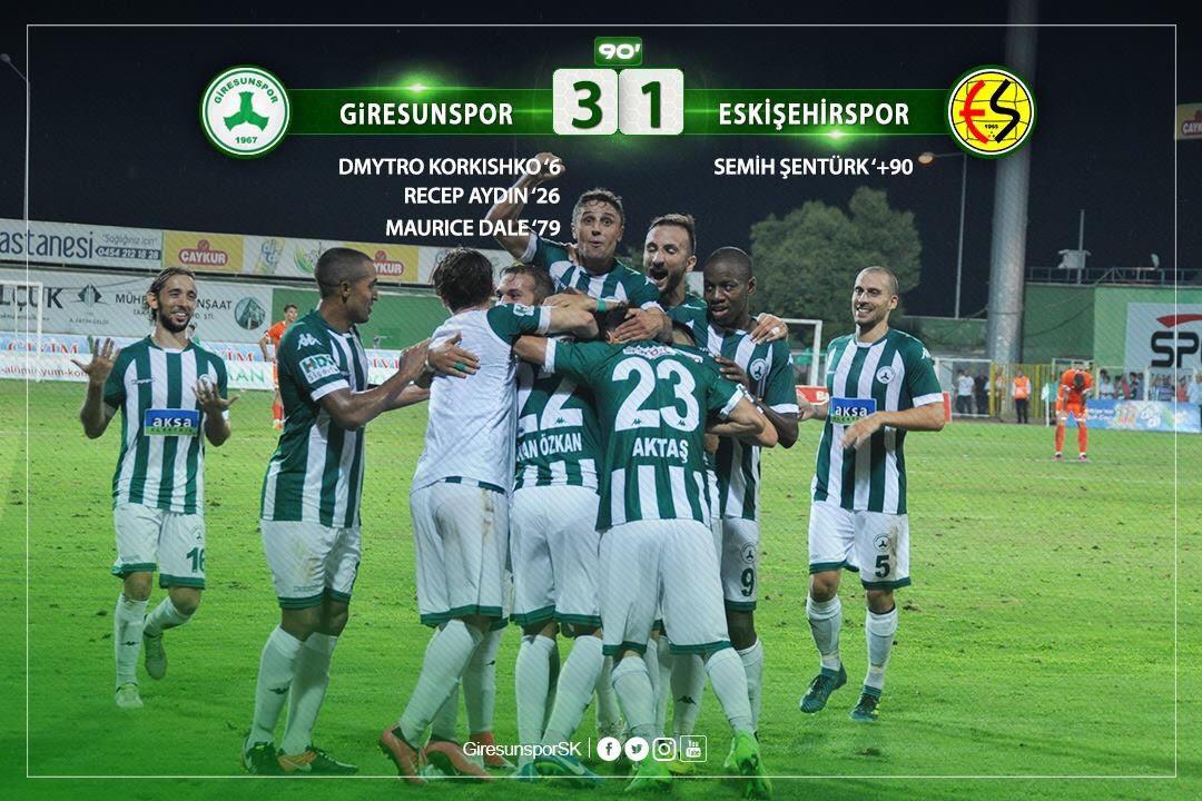 Giresunspor 3-1 Eskişehirspor