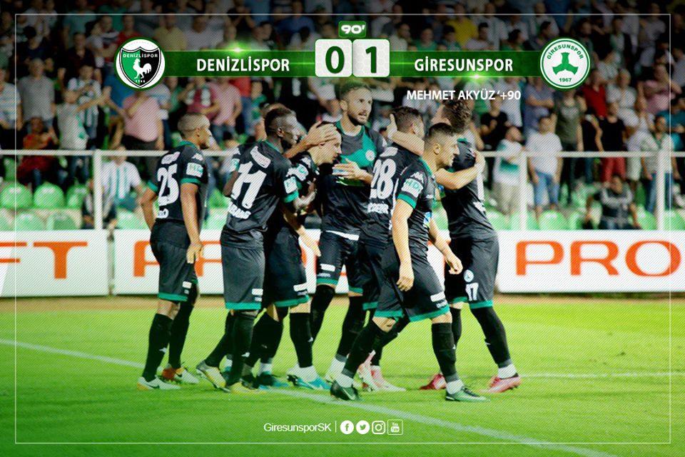 Denizlispor: 0 - Giresunspor: 1