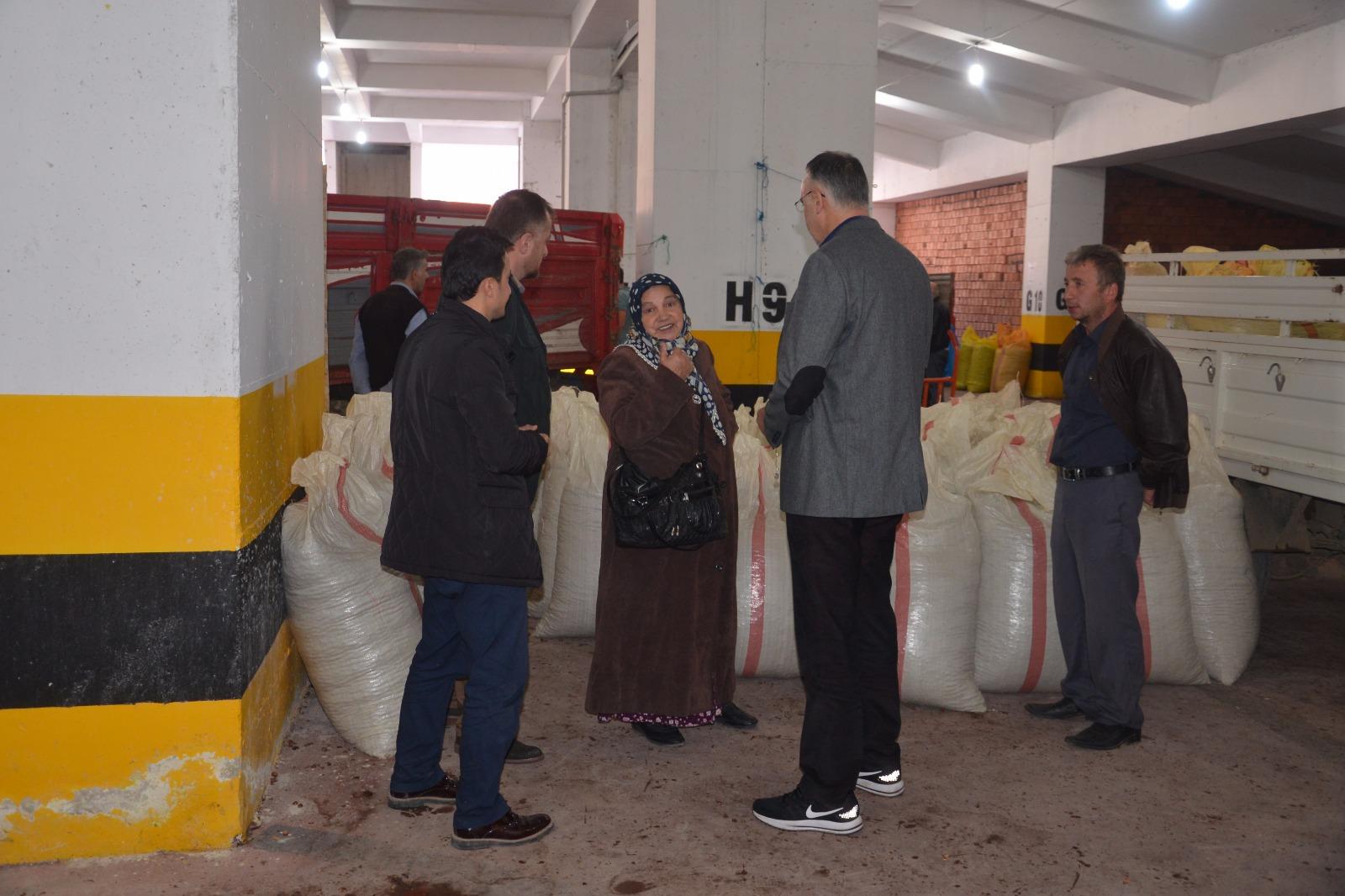 Başkan Yakar, TMO Bulancak alım noktasını ziyaret etti