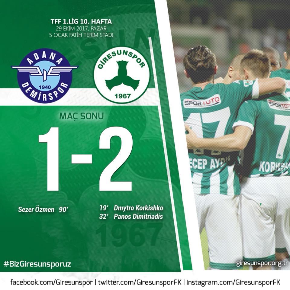 Adana Demirspor 1-2 Giresunspor