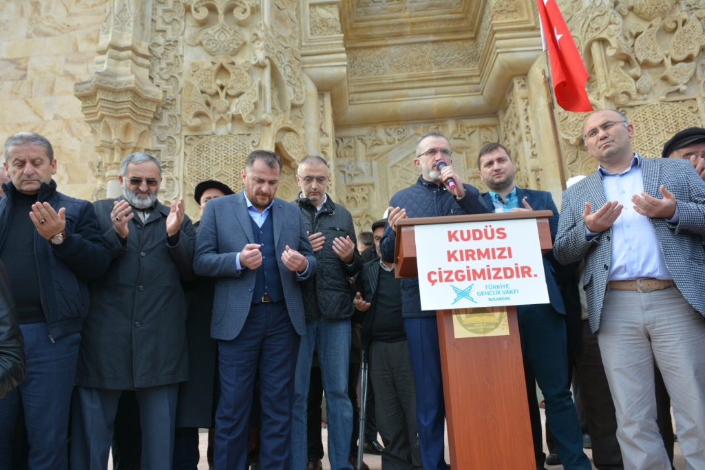 TÜGVA Bulancak, Bulancak'ta Kudüs Protestolarına katıldı