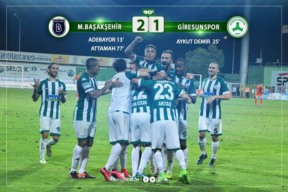 Başakşehir: 2 - Giresunspor: 1