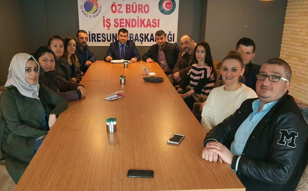 Giresun Öz Büro İş Sendikası kahvaltı etkinliğinde buluştu