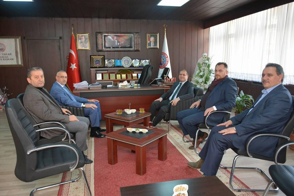 Kaymakam Ulugölge'den Başkan Yakar'a Veda Ziyareti