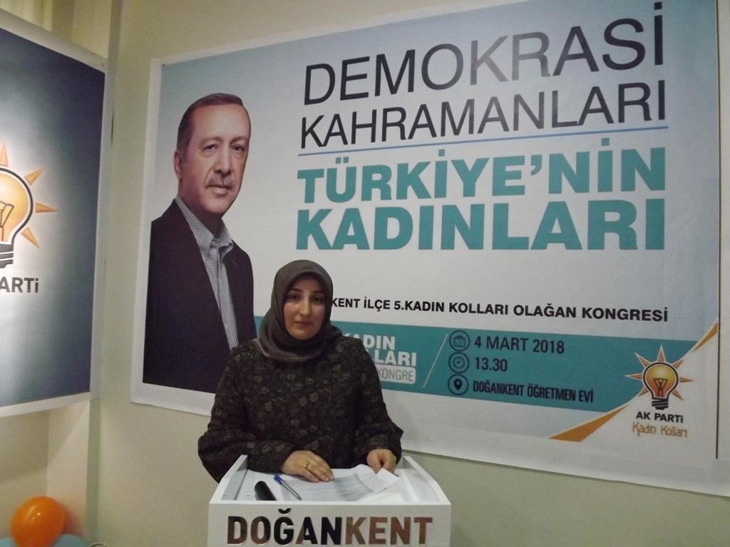 AK Parti Doğankent İlçe Kadın Kolları Başkanlığı Seçimi Yapıldı