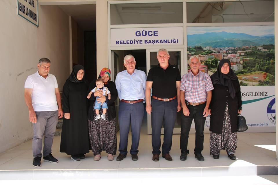 Güce Belediye Başkanı Aytekin Geçgel Şehit Ailesine