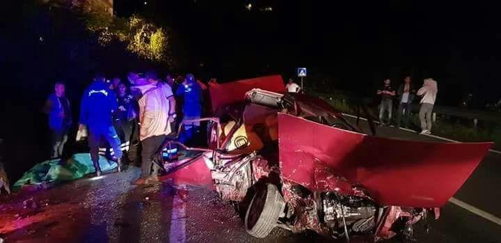 Kuzgun Köyünde Korkunç Kaza; 2 Ölü