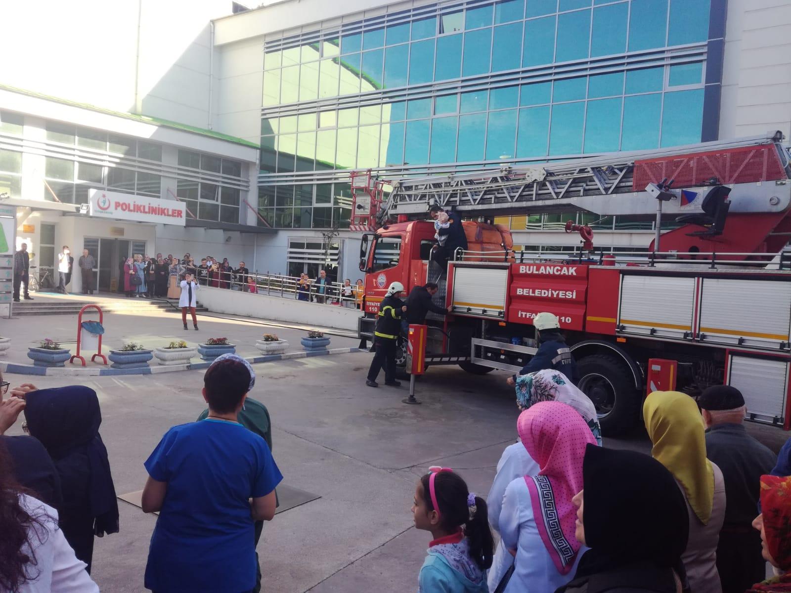 Bulancak Devlet Hastanesi'nde Yangın tatbikatı