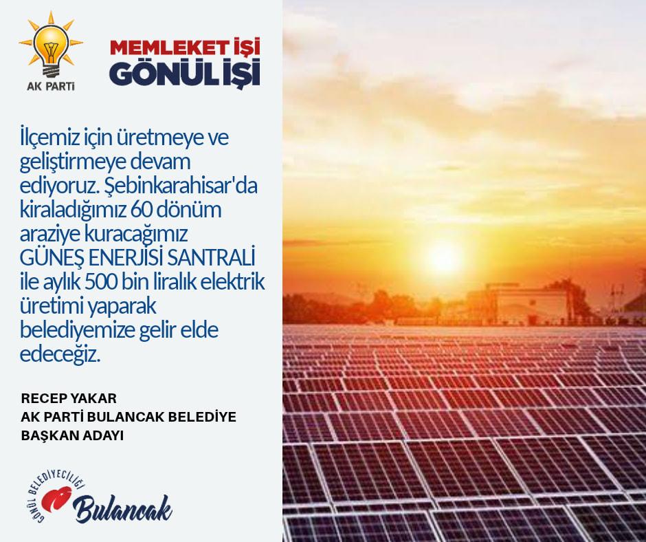 Bulancak Belediyesi Güneş Enerjisi
