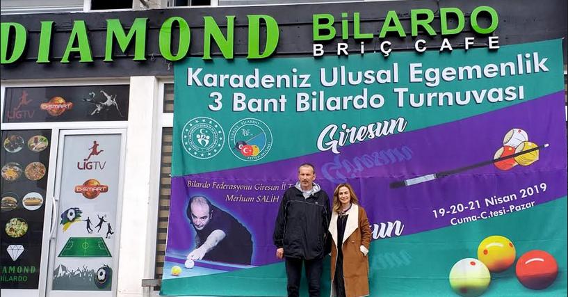 KARADENİZ 3 BANT BİLARDO TURNUVASI GİRESUN'DA
