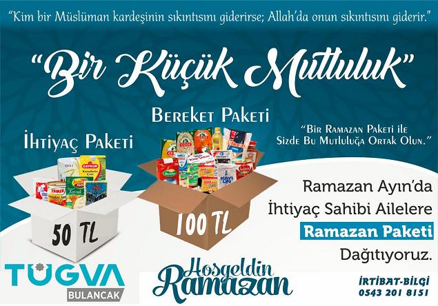 TÜGVA Bulancak'tan Ramazan Paketi