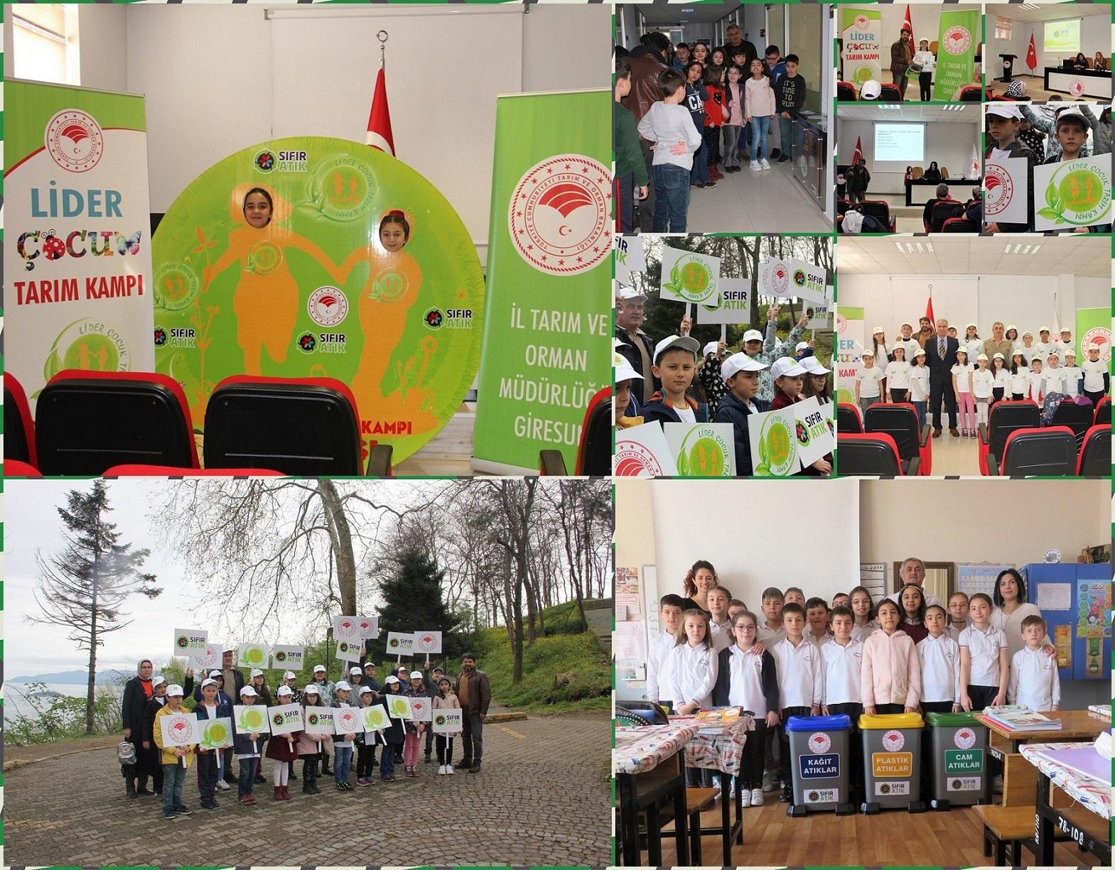 Giresun'da 'Lider Çocuk Tarım Kampı'