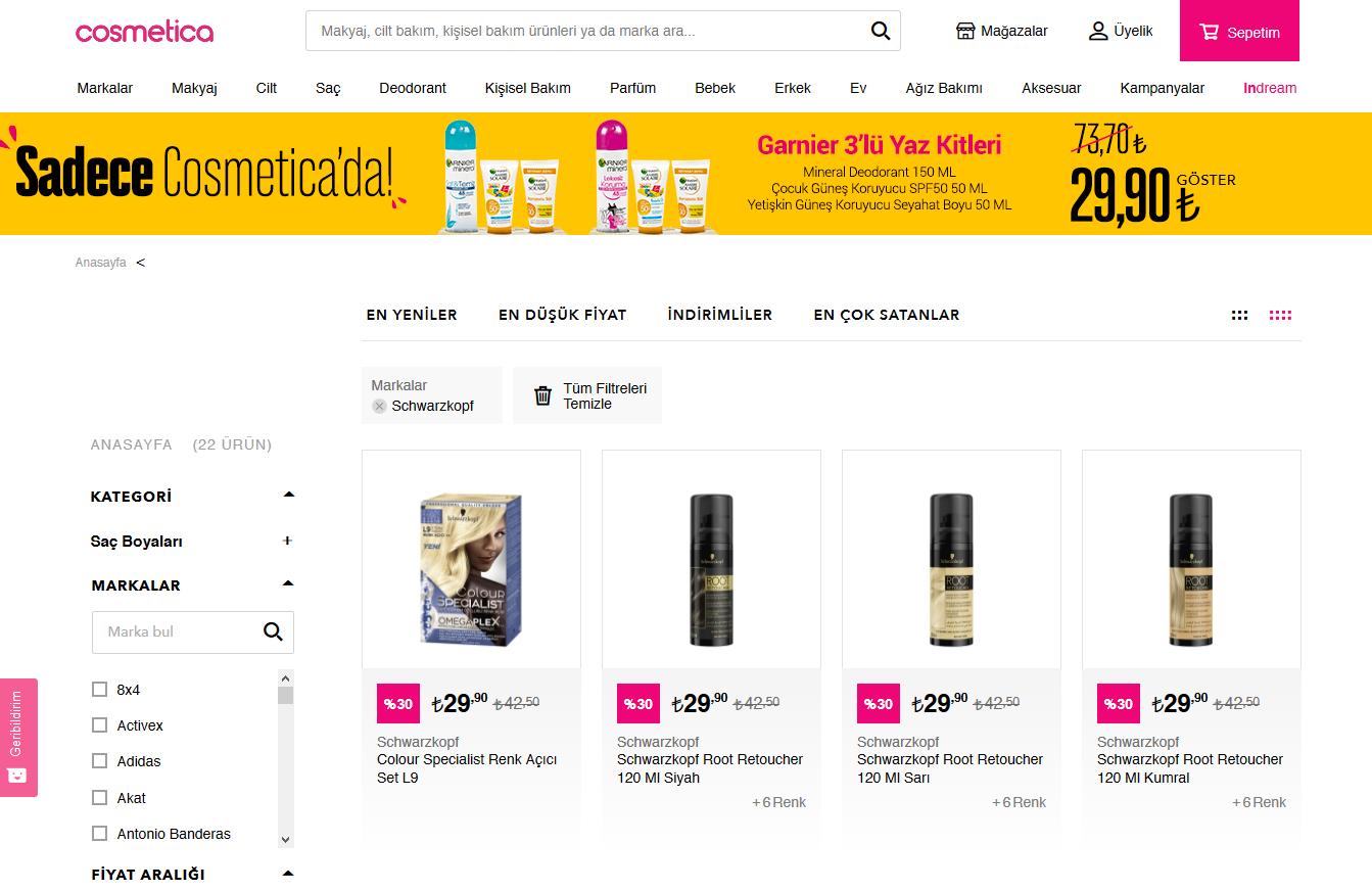 Schwarzkopf Ürün Seçenekleri