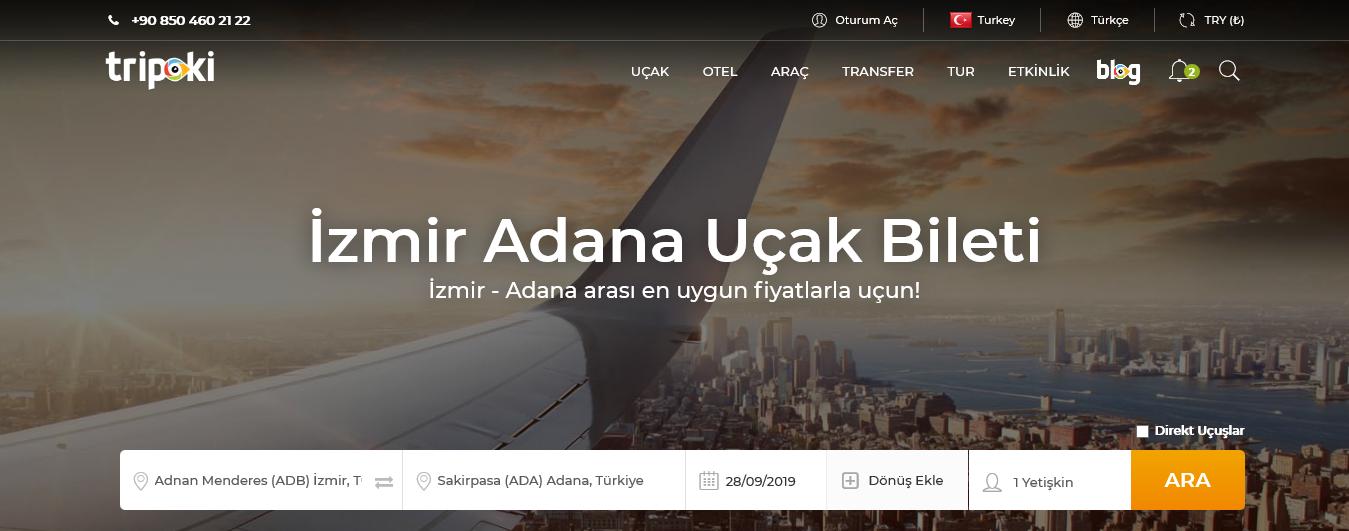 İzmir Adana Uçak