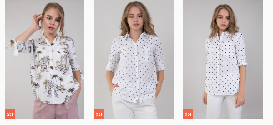 Klasik ve Şık Bayan Gömlek