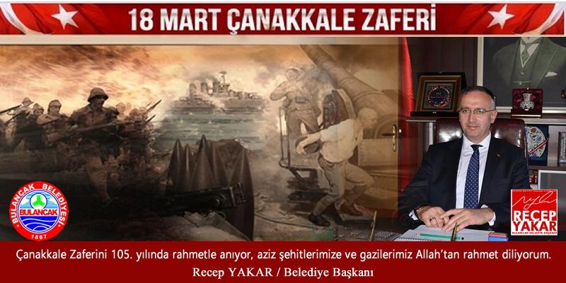 Başkan Yakar'dan 18 Mart Çanakkale Zaferi Mesajı