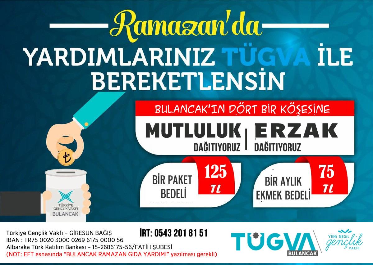 TÜGVA Bulancak, Ramazan Gıda Yardım Çalışması
