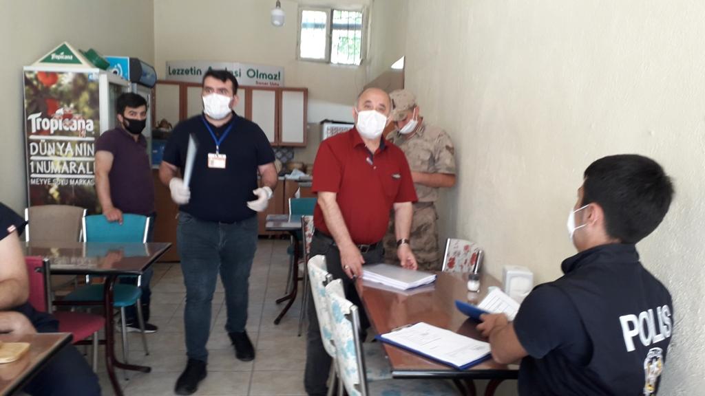 Doğankent'te koronavirüs denetimi yapıldı