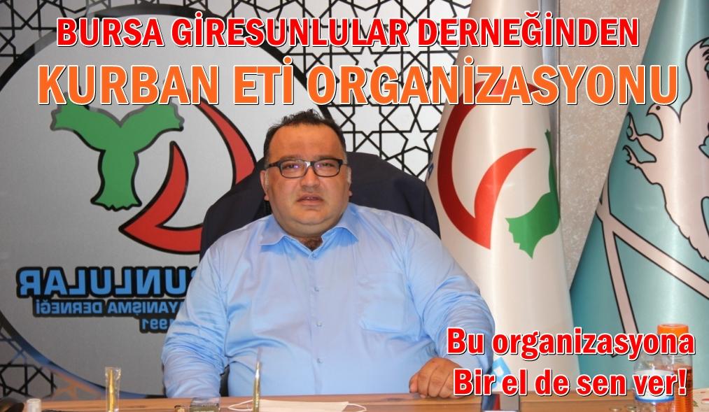 Bursa Giresunlular Derneğinden Kurban Eti Organizasyonu
