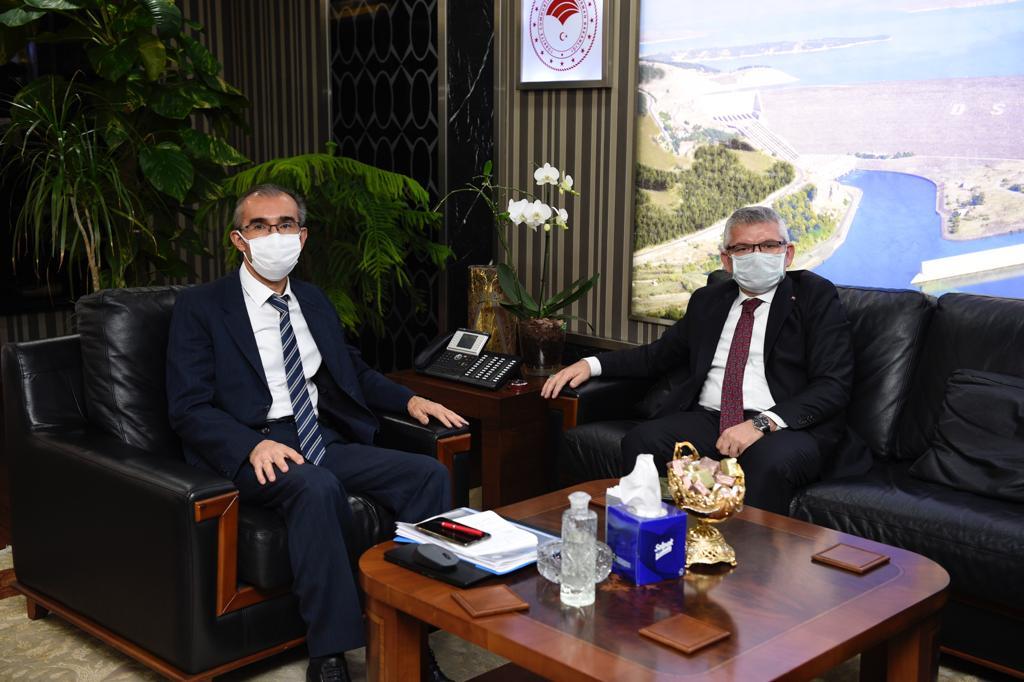 Aydın, Devlet Su İşleri Genel Müdür Vekili Yıldız'ı makamında ziyaret etti.