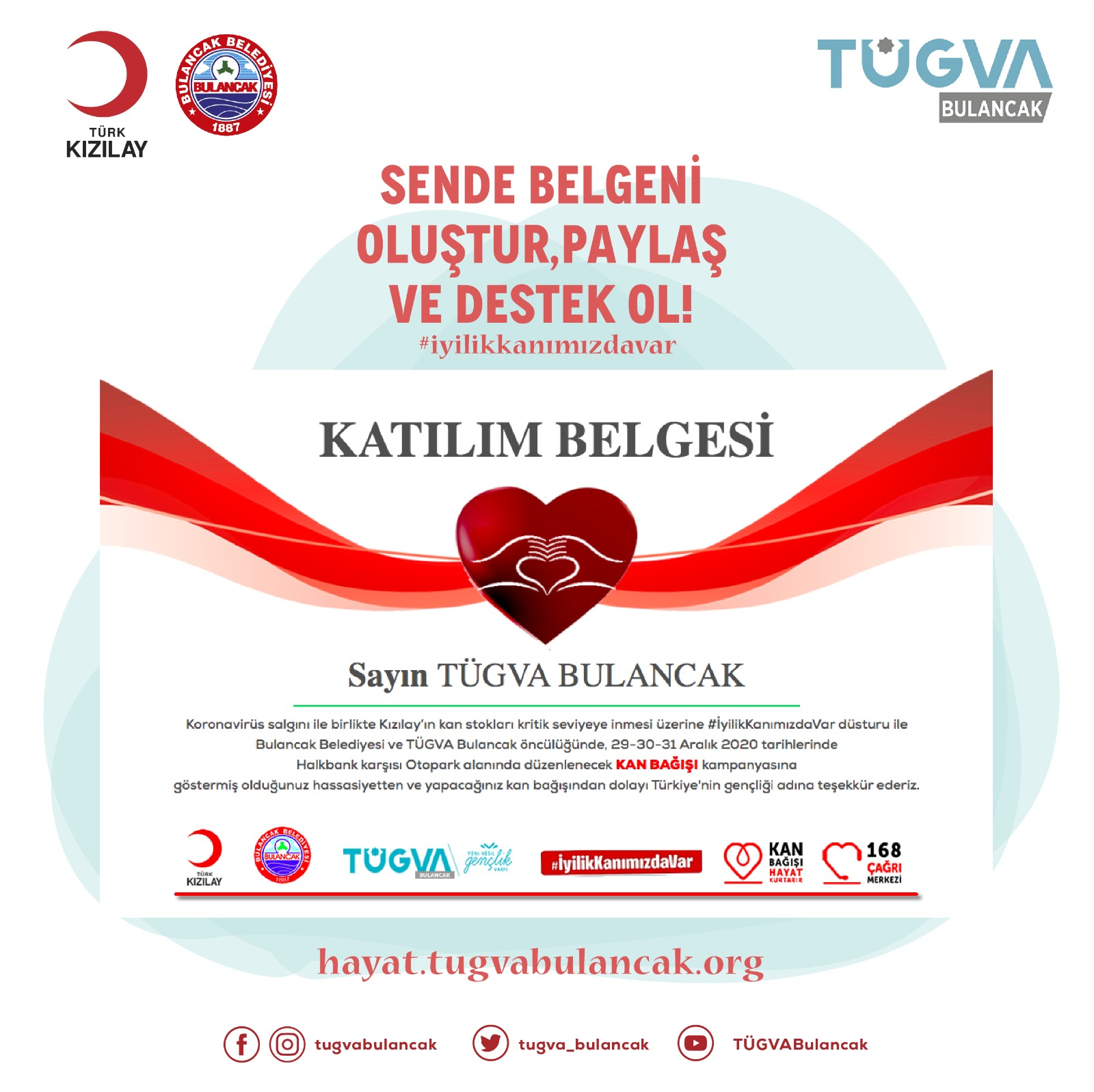 TÜGVA Bulancak'tan Kan Bağışı çağrısı