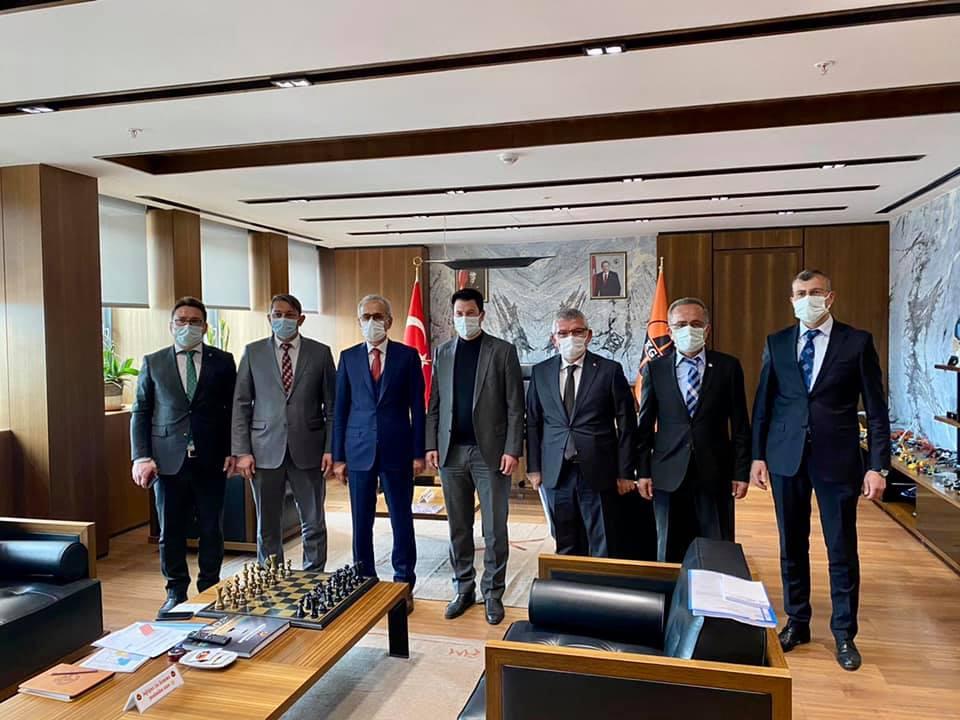 Mv. Aydın, Karayolları Genel Müdürü Uraloğlu'nu ziyaret etti.