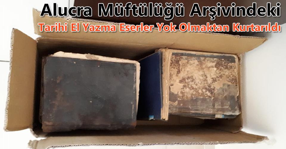 Alucra'daki El Yazma Eserler Diyanete Teslim Edildi