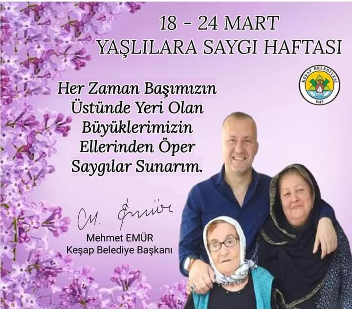 MEHMET EMÜR'DEN 'YAŞLILAR HAFTASI'