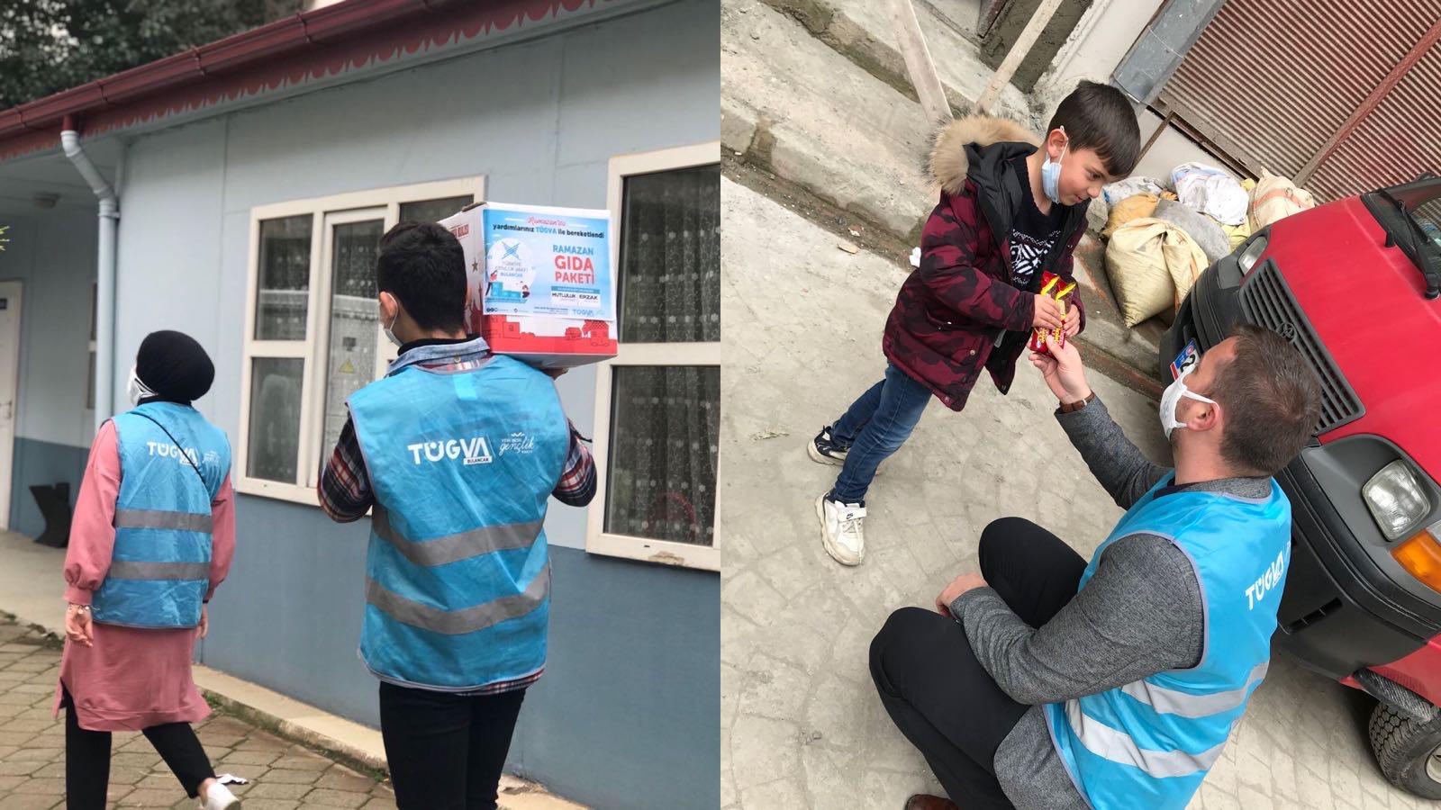 TÜGVA Bulancak Ramazan Gıda Paketi Dağıtımlarına başladı