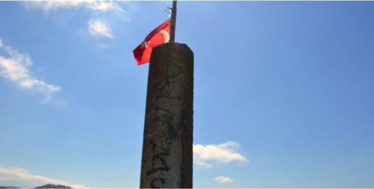 Gedikkaya'nın Zirvesine Türk Bayrağı