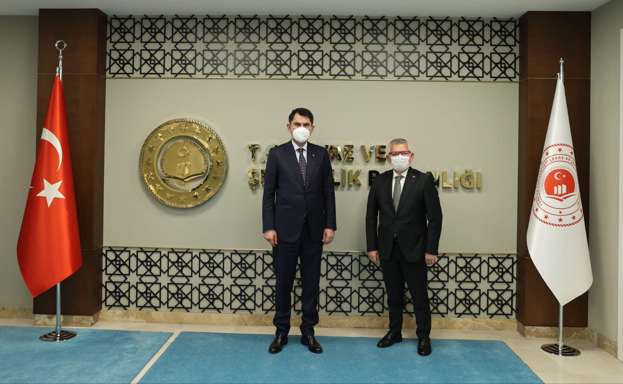 Aydın, Çevre ve Şehircilik Bakanı Sayın Murat Kurum'u ziyaret etti.