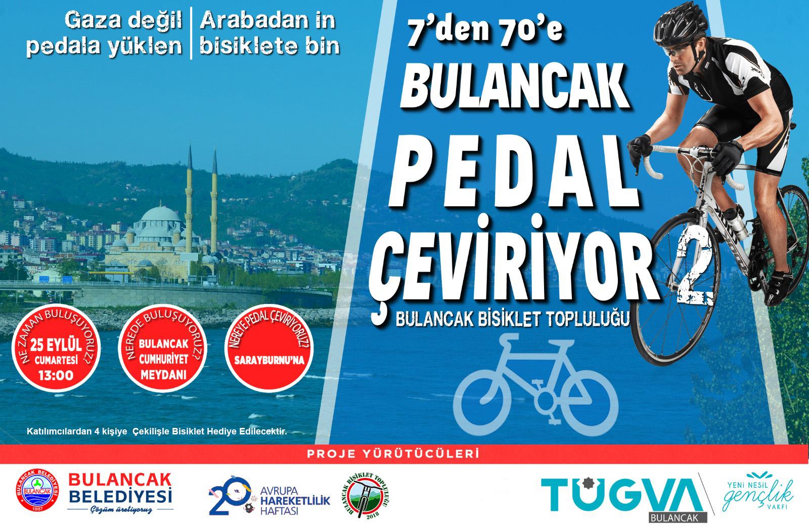 Bulancak Belediyesi'nden ödüllü 7'den 70'e bisiklet