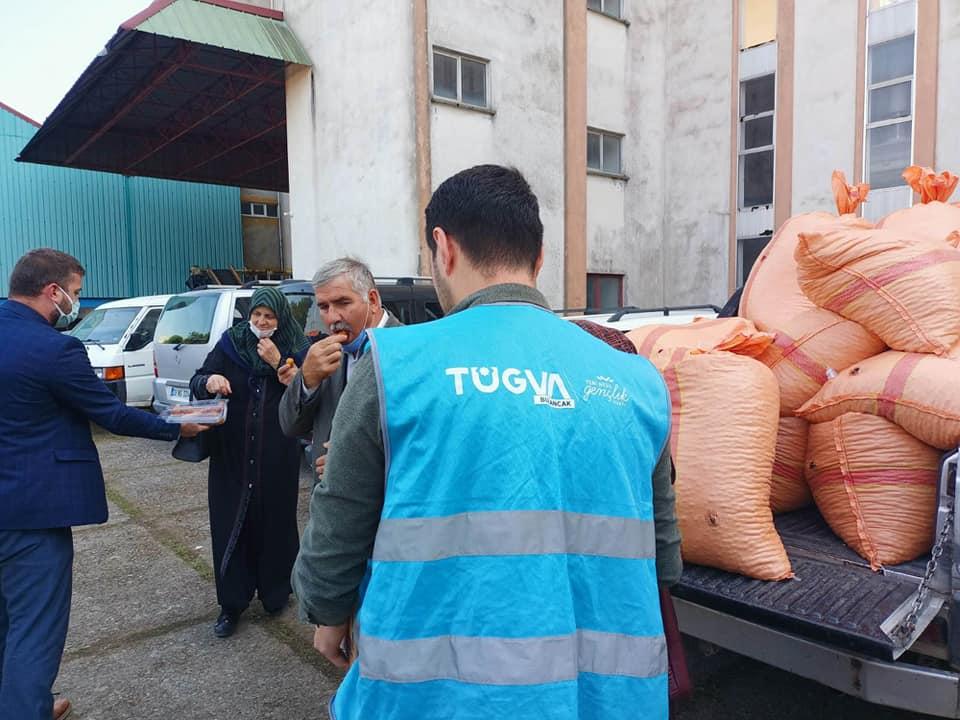 TÜGVA, Bulancak'ta Fındık üreticilerine tebessüm oldu.