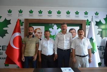 GELECEK Partisi Piraziz İlçe Başkanı Necip Aytemür Mazbatasını