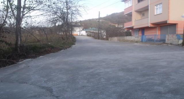 Günece Mahallesinde Yol Betonlama Çalışması