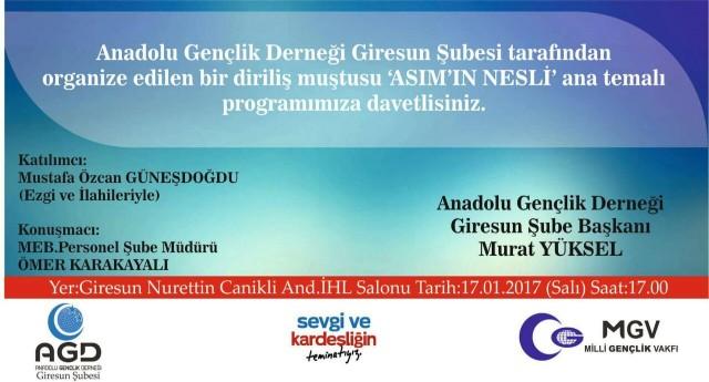 Mustafa Özcan Güneşdoğdu Giresun'a