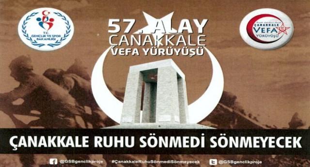 Giresun'da '57. Alay Çanakkale Vefa Yürüyüşü'ne