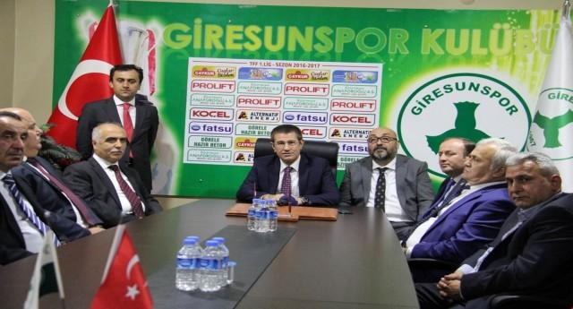 Canikli ve Vali Karahan Giresunspor'u Ziyaret