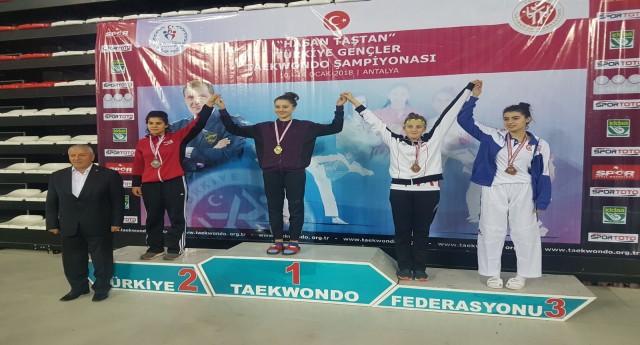 Giresunlu Taekwondocu Elif Zengin Türkiye Üçüncüsü