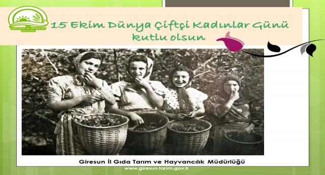 15 Ekim Dünya Çiftçi Kadınlar Günü Kutlu