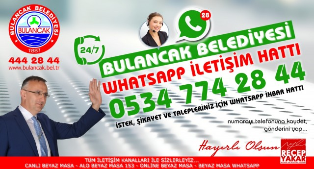 Bulancak Belediyesi whatsapp ihbar