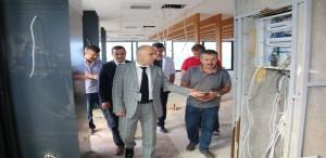 Vali Karahan, Piraziz'de Hotel İnşaatını İnceledi